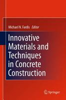 Innovative Materials and Techniques in Concrete Construction PDF
