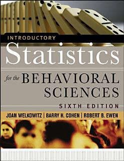 Introductory Statistics for the Behavioral Sciences Book