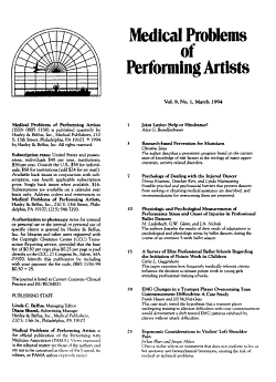 Medical Problems of Performing Artists PDF
