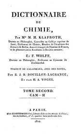 Dictionnaire de chimie: Volume 3