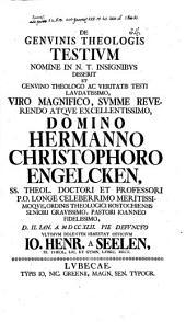 De genuinis theologis testium nomine in N. T. insignibus