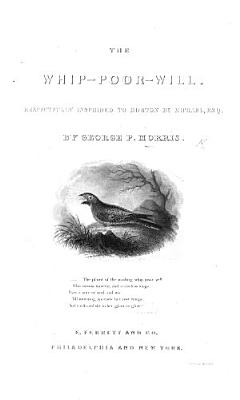 The Whip Poor Will   A Series of Engravings  Accompanied by Quatrains