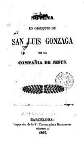 Novena en obsequio & San Luis Gonzaga...