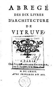 Abregé des dix livres d'architecture de Vitruve
