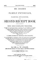 Dr  Chase s Family Physician  Farrier  Bee keeper  and Second Receipt Book PDF