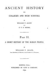 Ancient History for Colleges and High Schools: Part 2