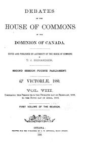 Official Report of Debates, House of Commons: Volume 8