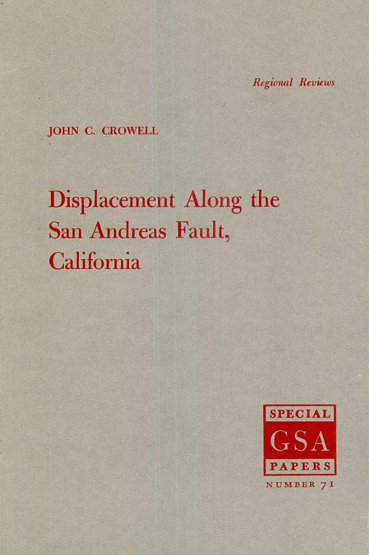 Displacement Along the San Andreas Fault, California
