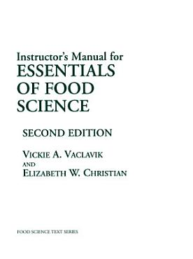 Instructor   s Manual for Essentials of Food Science PDF