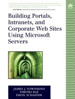 Building Portals  Intranets  and Corporate Web Sites Using Microsoft Servers PDF