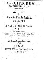 Exercitia Iusitianea: Volume 11