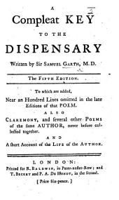 A Complete Key to the Dispensary ... The fourth edition, etc