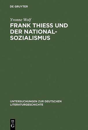 Frank Thiess und der Nationalsozialismus PDF