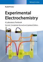 Experimental Electrochemistry PDF