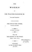 The Works of Sir Walter Ralegh  Kt PDF