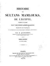 Histoire des Sultans Mamlouks de l'Égypte: Volume2