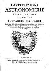Instituzioni astronomiche: opera postuma