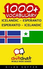 1000+ Icelandic - Esperanto Esperanto - Icelandic Vocabulary