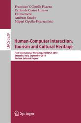 Human Computer Interaction Tourism And Cultural Heritage Book PDF