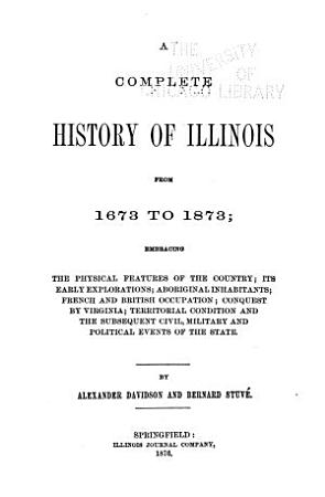 A Complete History of Illinois from 1673 to 1884     PDF