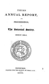 Annual report and proceedings of the Botanical Society: Volume 3