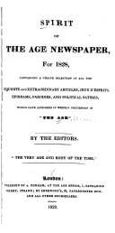 Spirit of the Age Newspaper, for 1828