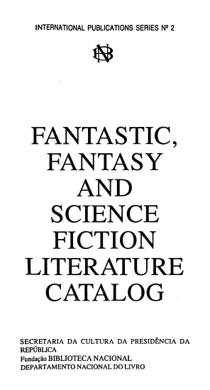 Fantastic  Fantasy and Science Fiction Literature Catalog PDF