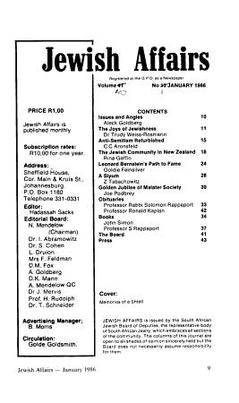 Jewish Affairs PDF