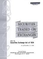 Securities Traded on Exchanges Under the Securities Exchange Act of 1934 PDF