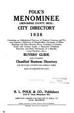 Menominee City Directories