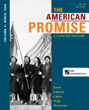 The American Promise  A Concise History  Volume 2 PDF