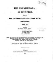 The Mahábhárata: an epic poem