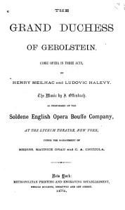 The Grand Duchess of Gerolstein Book