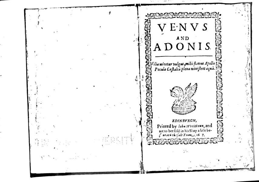 Download Venus and Adonis Book