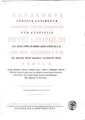 Catalogus codicum Latinorum Bibliothecae Mediceae Laurentianae sub auspiciis Petri Leopoldi ... Ang. Mar. Bandinius i.v.d. ... recensuit illustravit edidit. Tomus 1. [- 5.]: Tomus 2. In quo grammatici, rethores, philologi, poetae, historici, cosmographi, astronomi, tam veteris quam recentioris aevi accuratissime recensentur, operum singulorum notitia datur, plura nondum vulgata indicantur aut proferuntur, edita supplentur et emendantur. 2