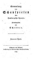 Sammlung von Schauspielen f  r s Hamburgsche Theater PDF
