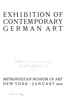 Exhibition of Contemporary German Art PDF