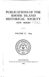 Publications of the Rhode Island Historical Society: Volume 2