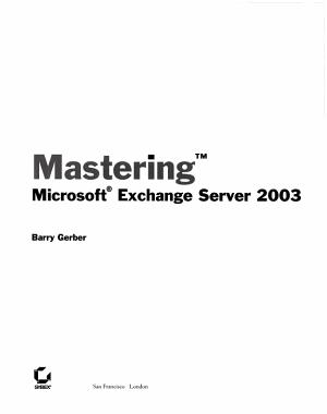 Mastering Microsoft Exchange Server 2003 PDF