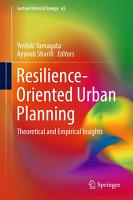 Resilience Oriented Urban Planning PDF