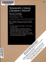 Nineteenth Century Literature Criticism PDF
