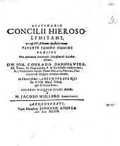 Diatypōsis concilii Hierosolymitani: ex cap. XV. Actuum Apostolicorum