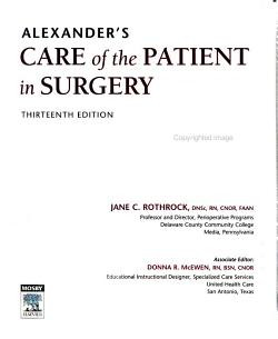 Alexander s Care of the Patient in Surgery PDF