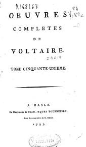 Oeuvres completes de Voltaire. Tome cinquante-unieme [Commentaires sur Corneille. Tome II]