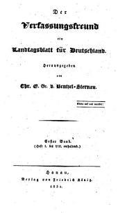 Der Verfassungsfreund: ein Landtagsblatt für Deutschland, Band 1