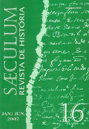 Saeculum   Revista de Hist  ria   n   16   jan  jun  2007 PDF