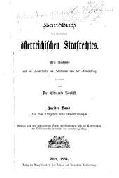 Handbuch des allgemeinen österreichischen Strafrechtes: Band 2