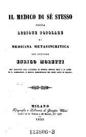 Jl medico di se stesso, ossia lezione popolare di medicina metasincritica