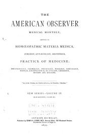 American Observer Medical Monthly: Volume 14