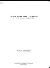 Assessing the public costs and benefits of Fannie Mae and Freddie Mac